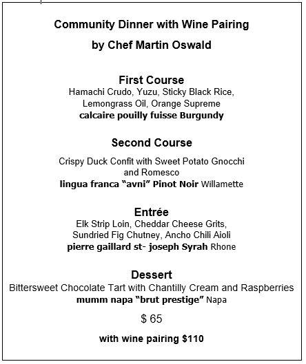 wednesday 08.05 menu
